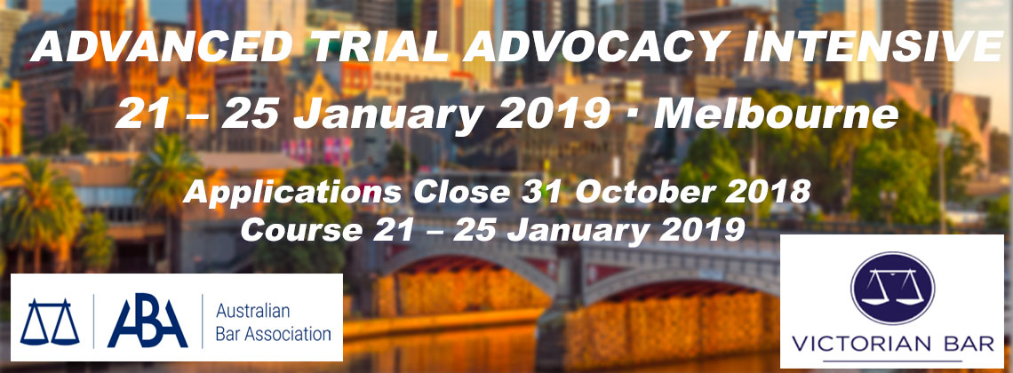 Advanced Trial Advocacy Intensive Course - Jan 2019
